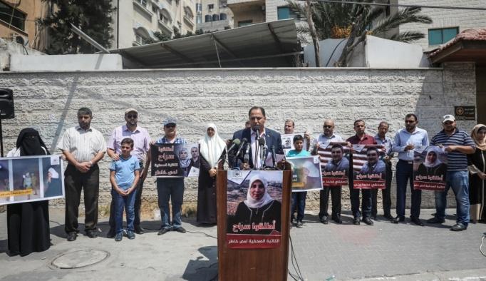 Filistinli basın mensuplarından Gazze'de eylem