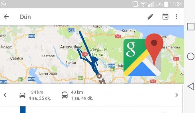 Google konum geçmişinizi anlık olarak kaydediyormuş