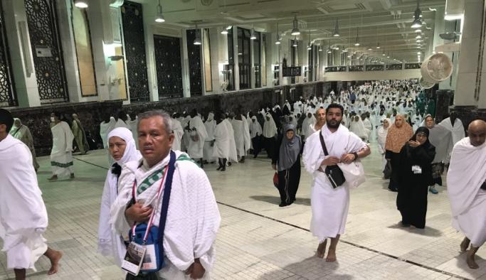Hacı adayları kutsal topraklarda