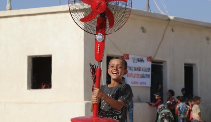 İHH'dan Suriye'de aşırı sıcaklara vantilatör önlemi