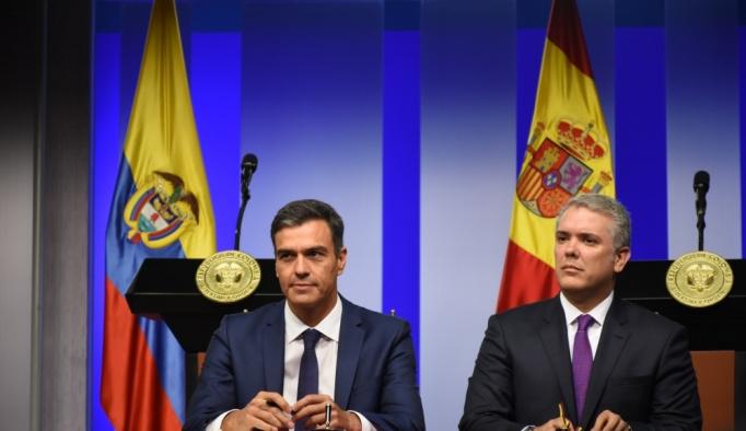 İspanya Başbakanı Sanchez Kolombiya'da