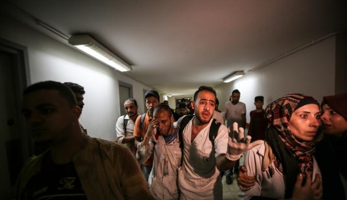 İsrail Gazze sınırında bir sağlık görevlisini şehit etti