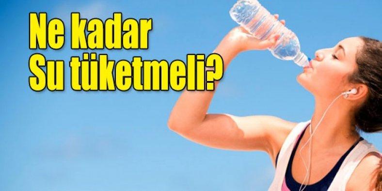 Kiloya göre su içme rehberi - Günde kaç litre su içmeliyiz?