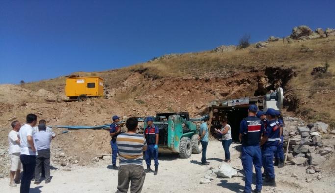 Kırşehir'de maden ocağında göçük
