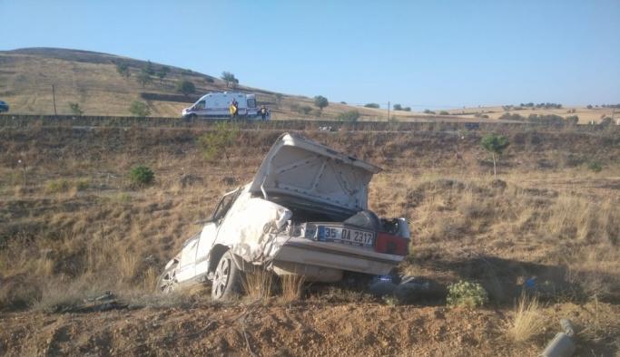 Konya'da otomobil şarampole devrildi: 1 ölü, 4 yaralı