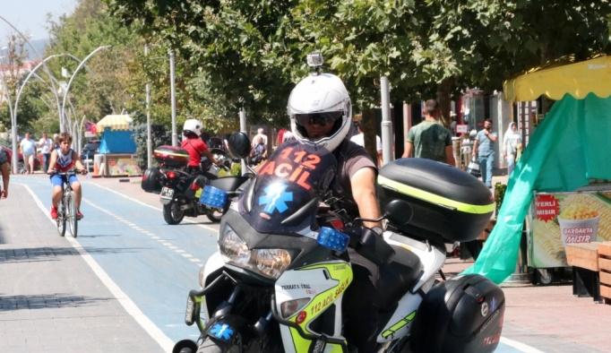 """Sağlıkta """"altın dakikalar"""" motosiklet ambulanslara emanet"""