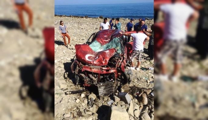 Sinop'ta trafik kazası: 2 ölü, 1 yaralı