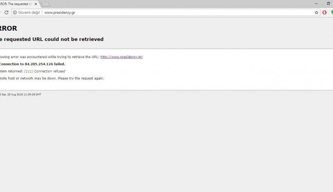 Türk hacker grubu Yunanistan Cumhurbaşkanlığı sitesini hackledi