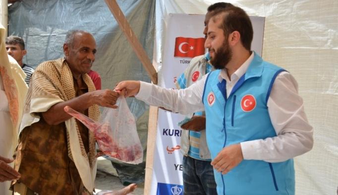 Türk yardım derneklerinden Yemen'de kurban bağışı