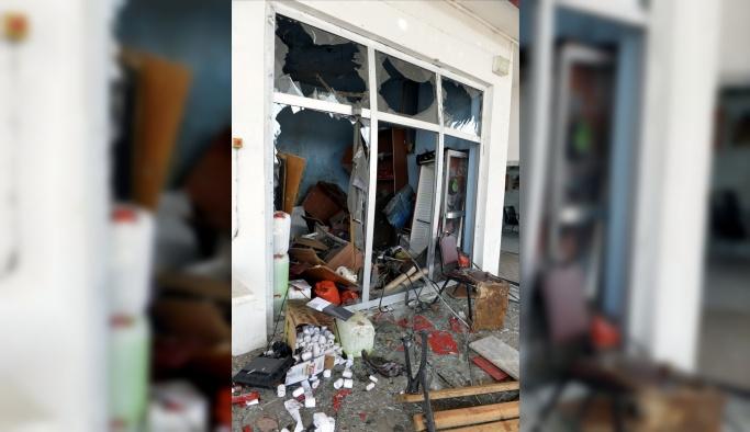 Akaryakıt istasyonunda kompresör patladı: 1 yaralı