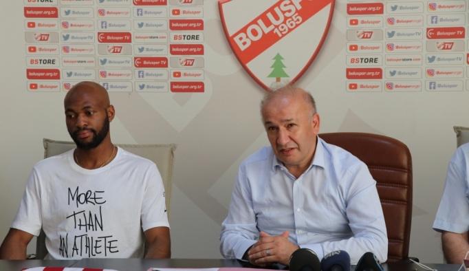 Boluspor'da yeni transfer Etoundi basına tanıtıldı