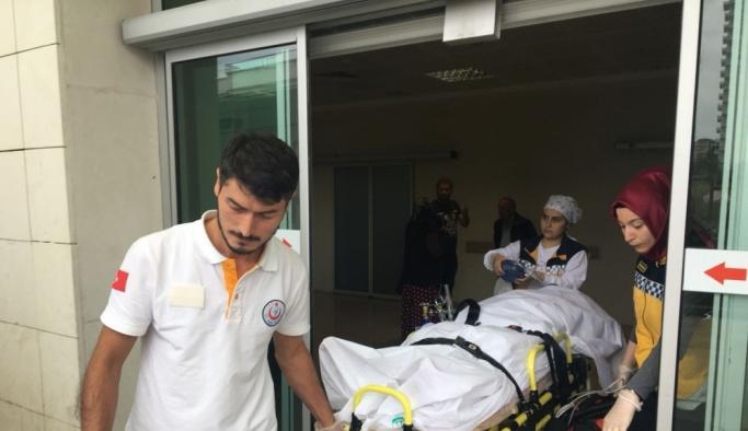 Kolunu patoza kaptıran kişi ağır yaralandı
