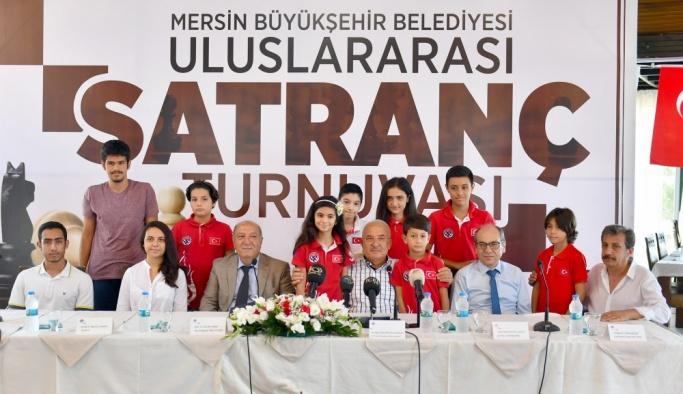 Mersin'de uluslararası satranç turnuvası