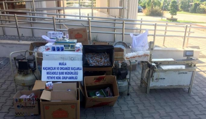 Muğla'da kaçak sigara imalathanesine operasyon
