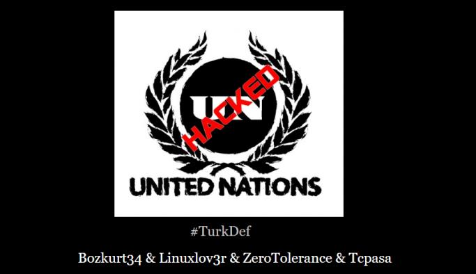 Türk hacker grubu United Nations sitesini hackledi