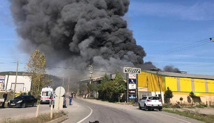 Bir fabrika yangını da Sakarya'dan