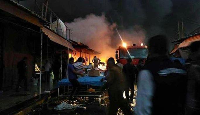 Erbil'de yangın, 1200 iş yeri tamamen yandı