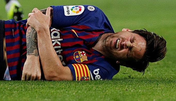 Messi'nin kolu kırıldı, dev maçta olmayacak