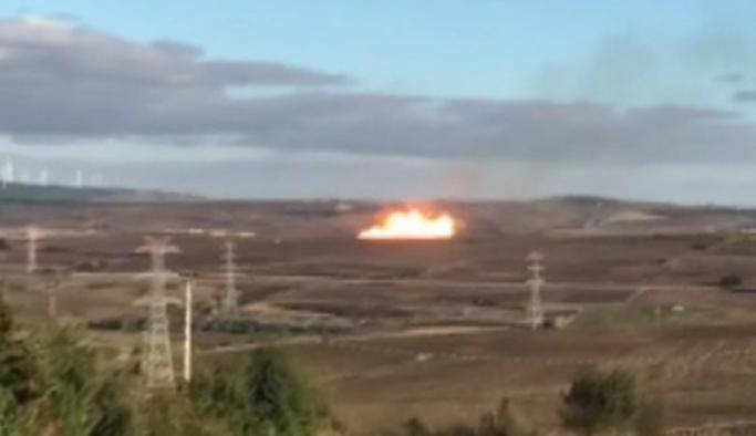 Silivri'de doğalgaz borusunda patlama