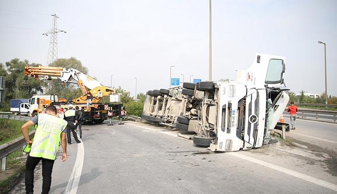 Tanker devrildi, 1 ölü