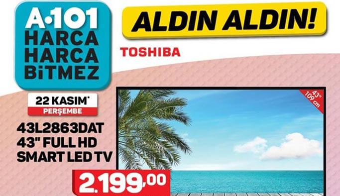 A101 29 Kasım 2018 aktüel ürünler kataloğunda dev ekran televizyon var