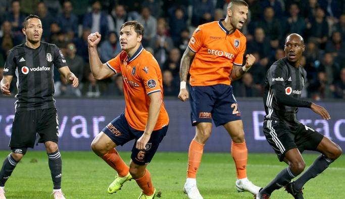 Beşiktaş deplasmanda Başakşehir'e yenildi