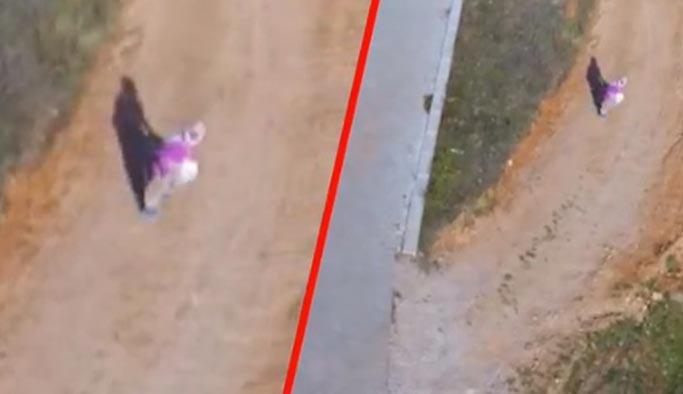 Drone gören masum köylü teyze gülümsetti