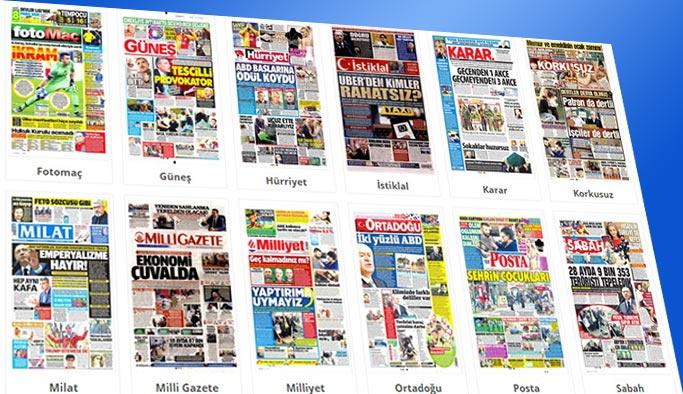 Gazeteler bugün hangi manşetlerle çıktı?