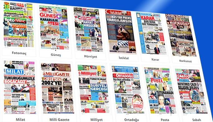 Gazeteler hangi başlıklarla çıktı - 6 Kasım