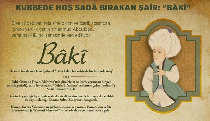 Şairlerin Sultanı Bâkî kimdir, eserleri nelerdir?