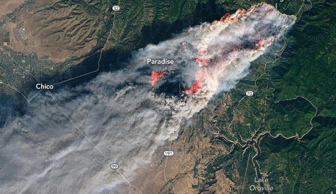Yangın uzaydan görüntülendi