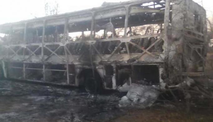 Yolcu otobüsü patladı en az 42 kişi öldü