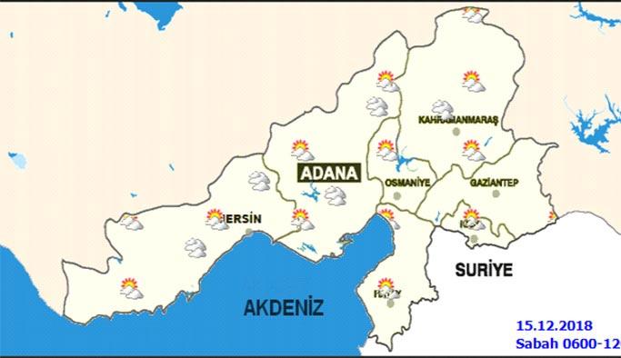 Adana hafta sonu hava nasıl olacak - 15-16 Aralık Adana Hava Durumu