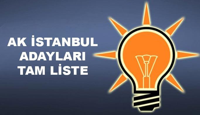 AK Parti İstanbul adayları TAM LİSTE