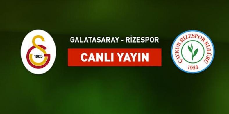 Galatasaray Rize maçı hangi kanalda, canlı izle
