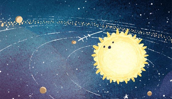 Google, Geminid meteor yağmurunu doodle yaptı