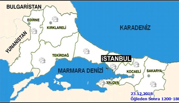 İstanbul 23 Aralık Pazar günü hava durumu nasıl olacak