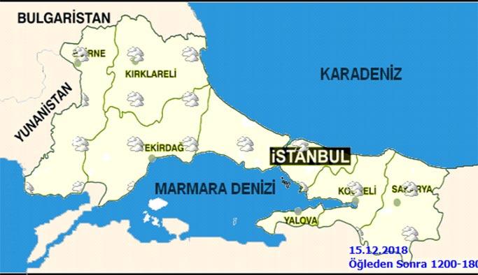 İstanbul'da hafta sonu hava nasıl - 15-16 Aralık İstanbul hava durumu
