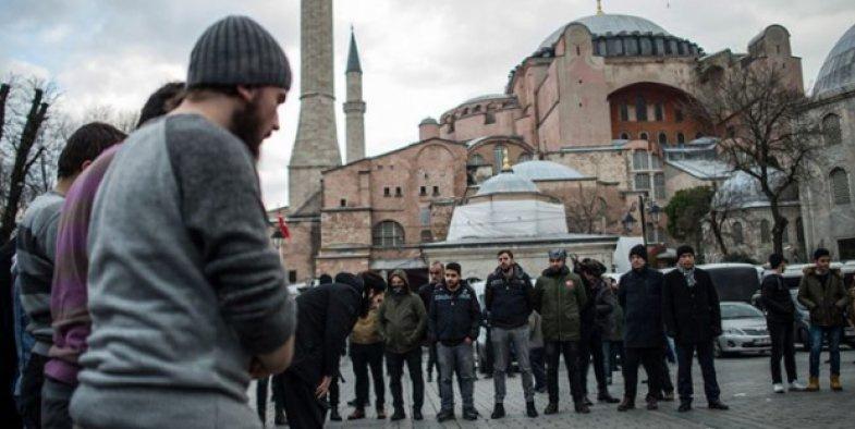 Ayasofya'da dans rezaleti protesto edildi