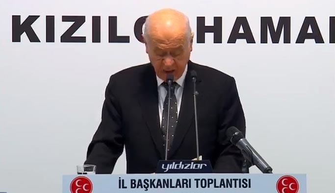 Bahçeli: Türkiye'nin önünü kesmek isteyenler hazırlık yapıyor