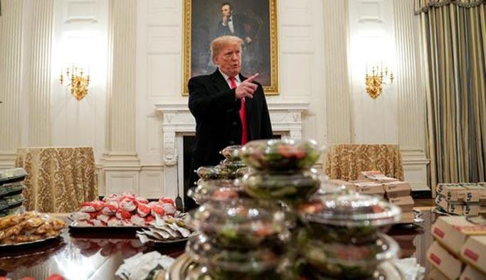 Beyaz Saray'da aşçı kalmadı, Trump dışarıdan yemek sipariş etti