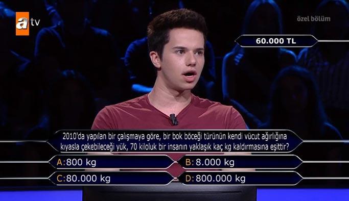 Bok böceğinin kendi ağırlığına kıyasla çekebileceği yük 70 kiloluk bir insanın yaklaşık kaç kilo kaldırmasına eşittir