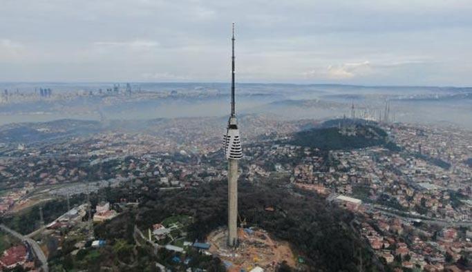 Çamlıca Kulesi'nin 10 katı tamamlandı