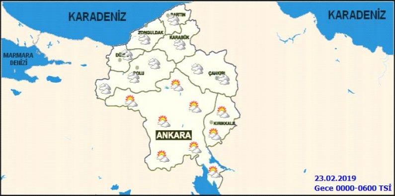 Ankara'da hafta sonu hava durumu nasıl olacak - 2 günlük haritalı