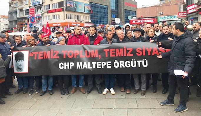 CHP Maltepe'de sokağa döküldü