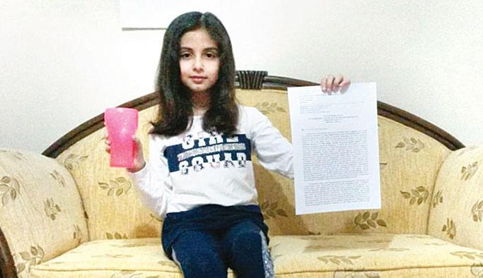 Dokuz yaşındaki Elif'in 'kapak' zaferi