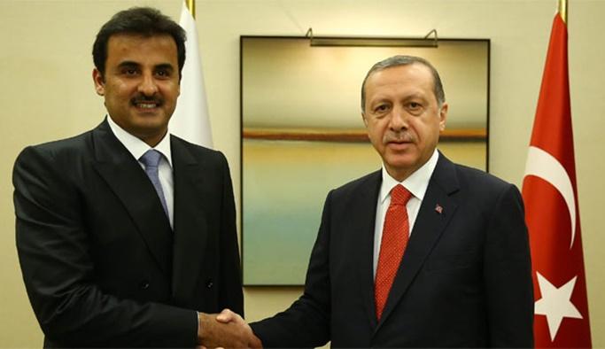 Erdoğan Katar Emiri ile görüştü