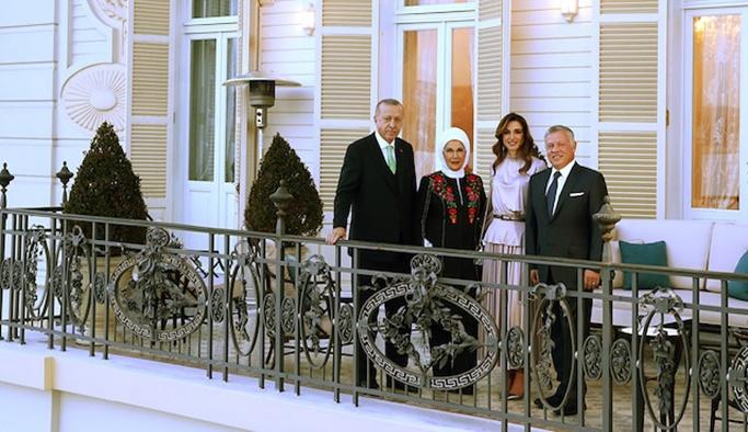 Erdoğan Ürdün Kralı'nı kahvaltıda ağırladı