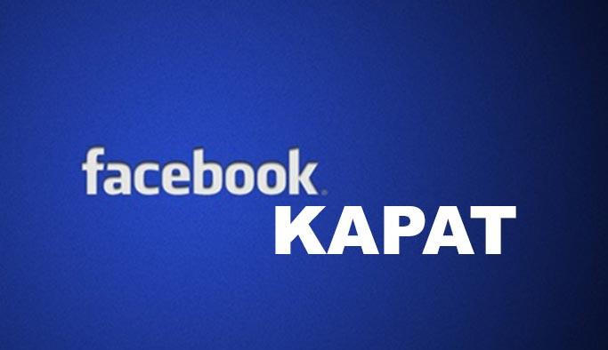 Facebook hesabı silme, Facebook hesap kapatma 2019