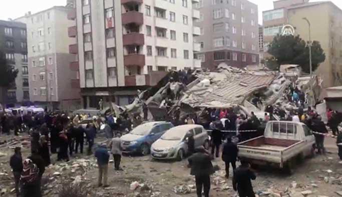 İstanbul'da çöken binada ölen sayısı yükseliyor